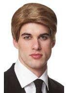 Honey Blonde Men's Short Wig Front View