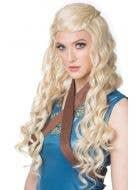 Medieval Princess Women's Long Blonde Wavy Costume Wig