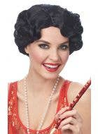 Darling Daisy Women's Short Curly Black Gatsby Wig