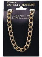 Large Gold Gangster Chain Costume Accessory