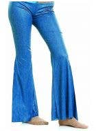 Blue Bell Bottom Hippie Costume Pants Front View