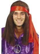 Groovy 70's Wig & Hippy Mens Kit