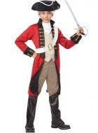 Boys Red British Colonial Costume Front View