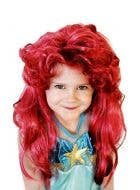 Girls Red Ariel Long Curly Costume Wig