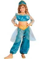 Arabian Princess Girl's Blue Costume Front View