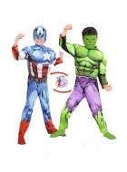 Reversible Hulk and Captain America Costume for kids Main Image