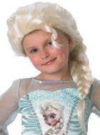 Frozen Elsa Girls Blonde Costume Wig