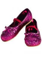 Glitter Girls Ballet Flats in Magenta