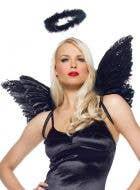 Fallen Angel Women's Halo And Wings Accessory Set Main
