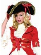 Women's Deluxe Black Pirate Costume Hat