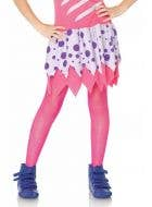 Neon Pink Kids Costume Stockings by Leg Avenue