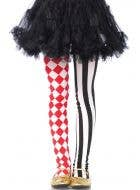 Harlequin Striped Girls Costume Stockings