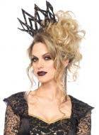 Black Lace Evil Queen Deluxe Women's Costume Crown