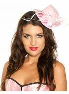 Pink Hearts Burlesque Mini Top Hat