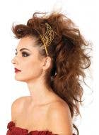 Gold Winged Headband Goddess Costume Accessory