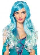 Women's Blue Ombre Wavy Mermaid Costume Wig