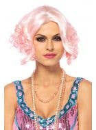 Curly Pale Pink Women's Bob Wig