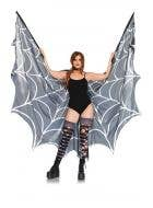 Spiderweb Halter Wing Cape Adults Costume Accessory