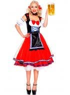 Women's Red German Beer Girl Costume Main Image