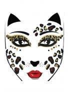 Leopard Stick On Novelty Face Tattoos