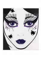 Witches Spiderweb Face Tattoo Costume Accessory