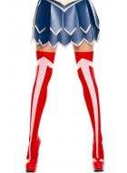 Wonder Woman Red Thigh High Stockings