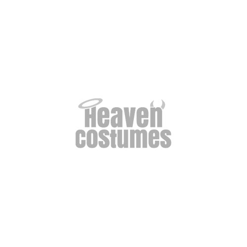 Opaque White Costume Thigh Highs with Blue Bows