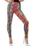Neon Leopard Print Kids 80's Costume Leggings