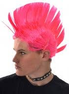 Punk Hot Pink Adults Mohawk Costume Wig