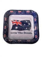 Australia Day Square Party Plates - 8 Pack