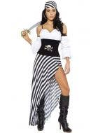 Pirate Lass Black and White Women's Sexy Costume