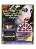 Vampiress Halloween Makeup & Accessory Kit