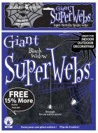 Giant Stretchy Black Spiderweb Party Decoration with Spiders