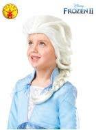 Frozen 2 - Girls Blonde Elsa Braid Costume Wig