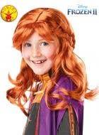 Frozen 2 - Auburn Red Girls Anna Costume Wig