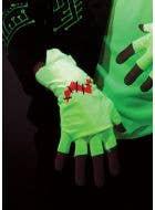 Franken Raver Glowing Halloween Gloves