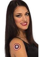 Captain America Fake Tattoo Shield Accessory Main Image