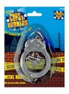 Faux Hand Cuffs in Metal Costume Accessory