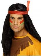 Indian Brave Men's Costume Wig