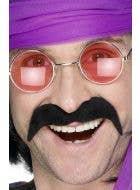 Seventies Tash Men's Moustache - Black