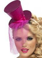Fever Pink Glitter Mini Top Hat