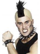 Men's 1980's Punk Rocker Spiked Costume Jewellery Set