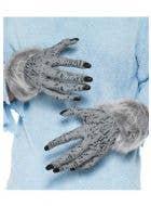 Hairy Grey Werewolf Costume Hands