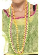 Neon 1980's 4 Strand Beaded Necklace Costume Accessory Main Image