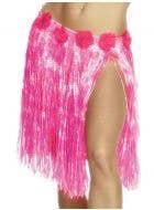 Short Women's Pink Hawaiian Hula Skirt