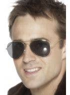 Silver Framed Aviator Costume Sunglasses