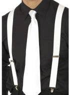 1920's Gangster Suspenders - White