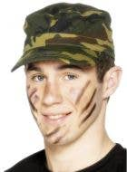 Camouflage Army Cap Costume Accessory
