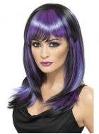Glamour Purple and Black Witch Wig