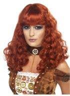 Steampunk Women's Curly Auburn Wig